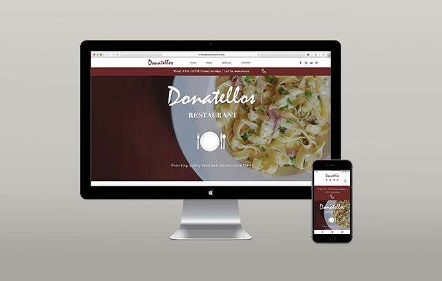 JCDM restaurant website design
